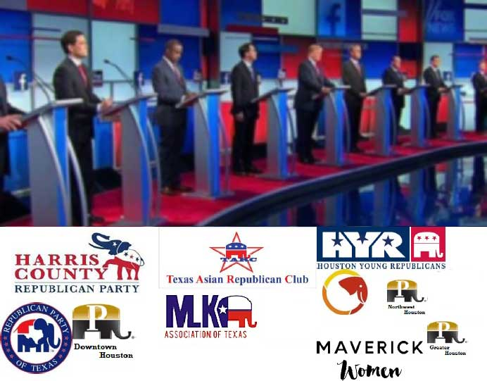 TARC co-hosts GOP Debate Watch with other Houston-area GOP clubs