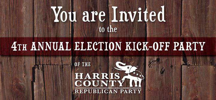 OCT 14 – 4th Annual HCRP Election Kickoff Party