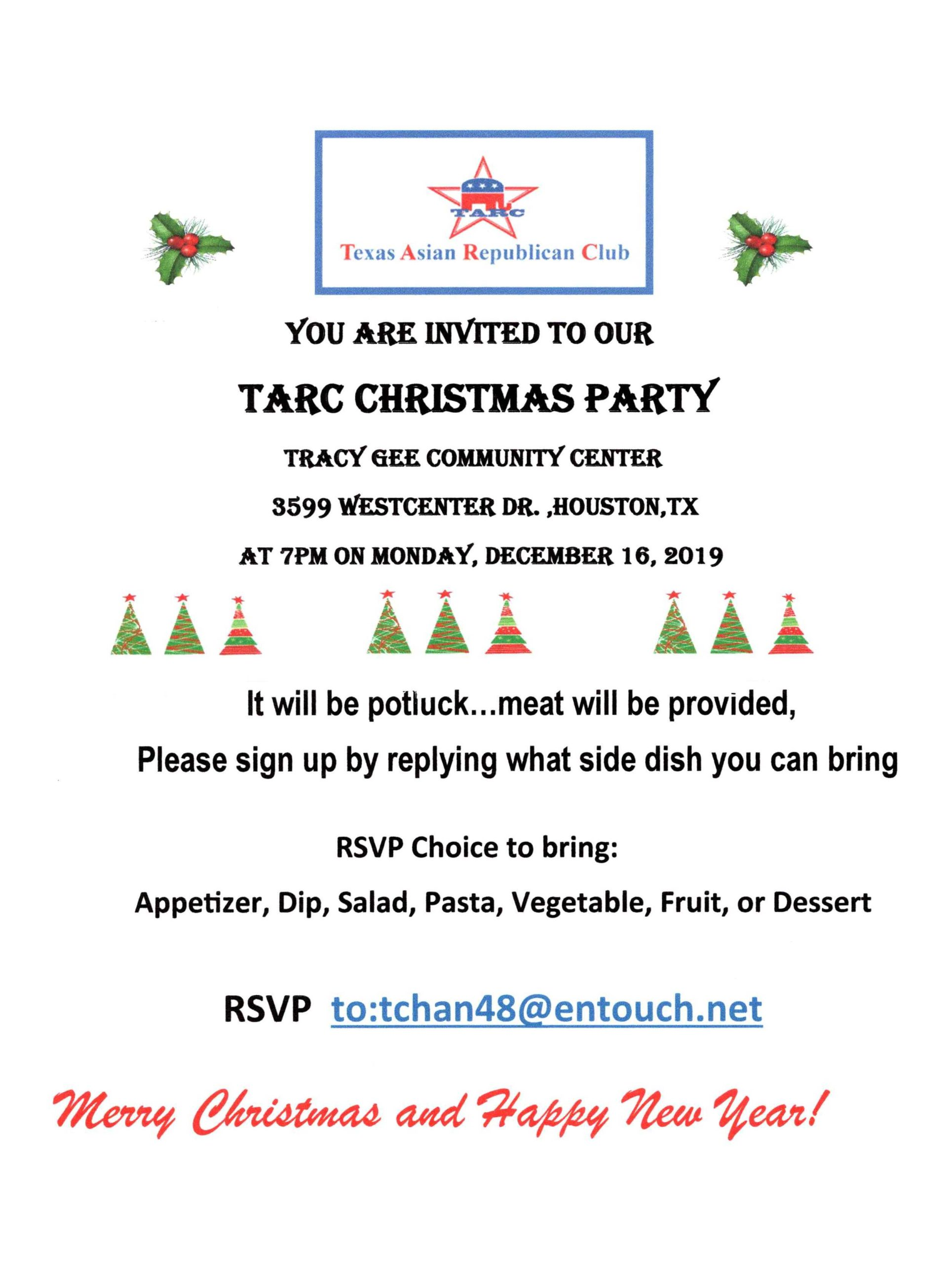 TARC Christmas Party